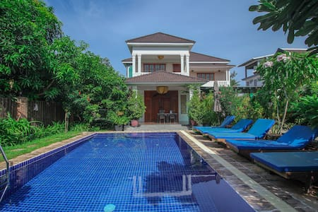 Vip independent Villa. Big pool. Groups Welcome! - Krong Siem Reap