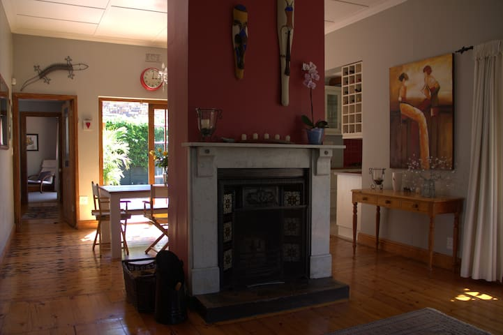 Original Victorian fireplace, perfect for those Cape Town winter evenings.