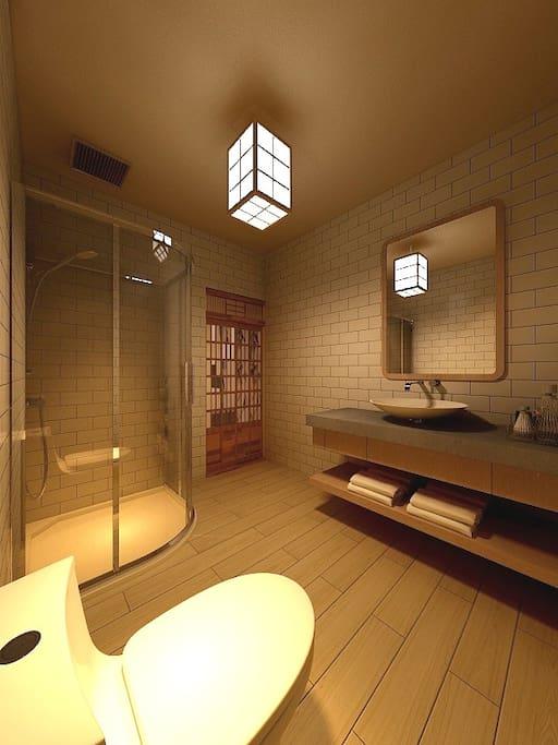 二楼 日式和风 榻榻米房间 卫生间