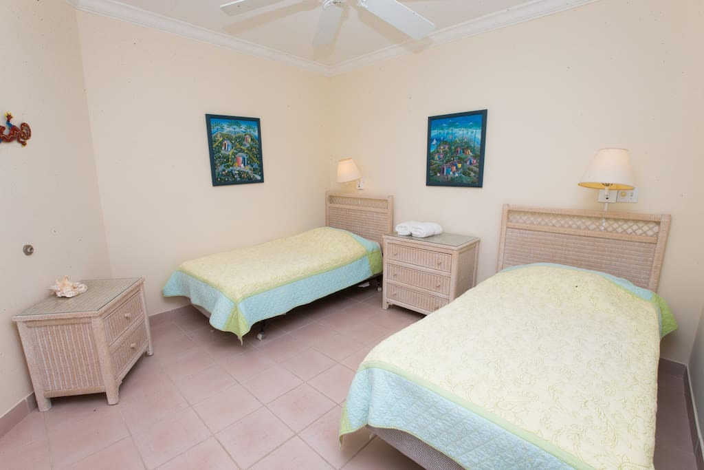 twins beds spacious with bathroom