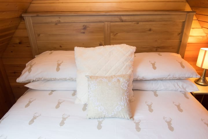 Brushed cotton bedding.