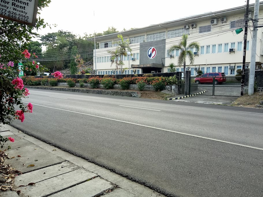 The view from the main entrance gate. Just located along the National Highway fronting National Food Authority (NFA).