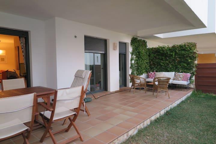 Apartamento con jardin en la Cala de Mijas