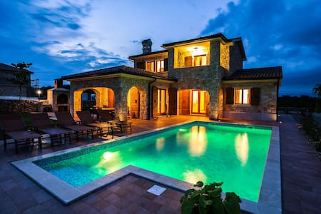Stone Villa with a large pool and child playground - Krk