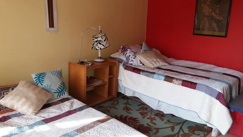 Cómoda habitación, 2 camas single. - Curicó - House