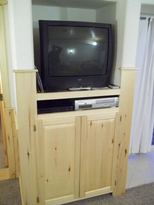 TV featuring DVD/VCR player