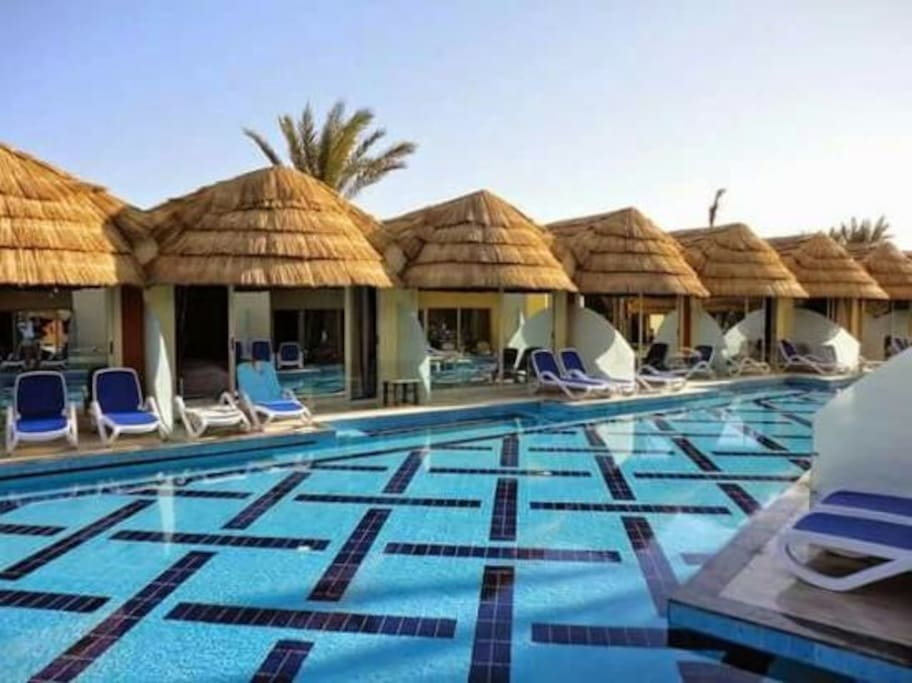 Pool bungalow iii panorama elgouna resorts for rent in el gouna red sea governorate egypt for Bungalow on rent in khandala with swimming pool