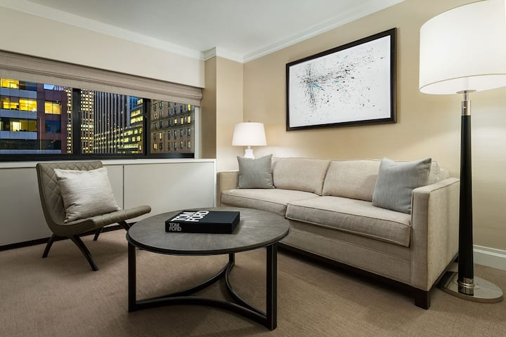 Corner Suite between Central Park and Times Square