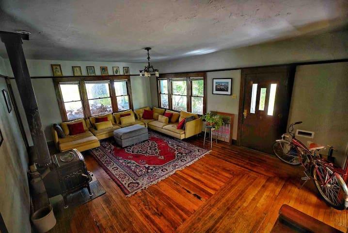 Living room & wood stove