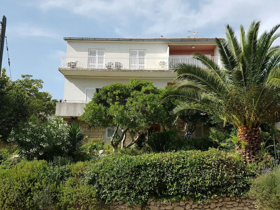 Front view of the family house Jelicic where Ela Marija Hvar apartment is situated