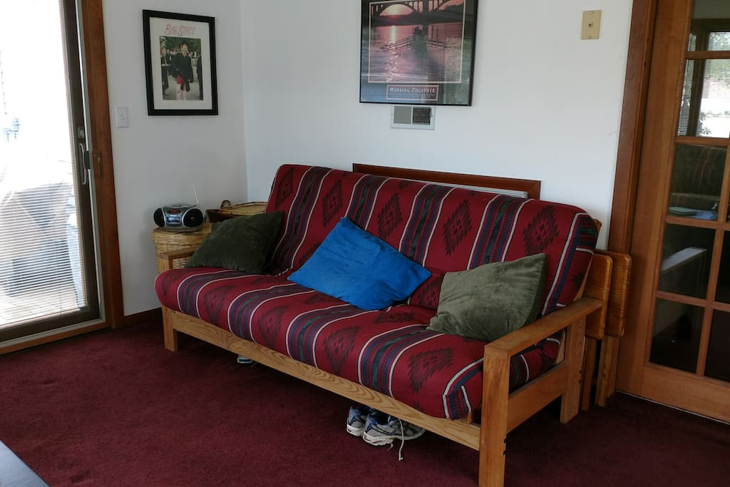 Futon in Sunroom