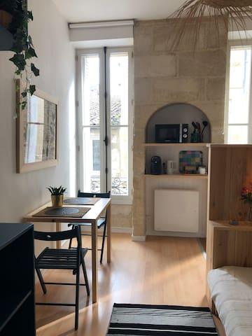 Bordeaux : charmant studio lumineux à Saint-Michel