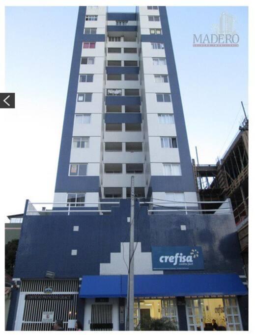 Foto da fachada do prédio