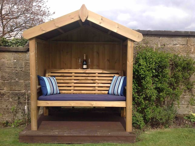 Enjoy a drink in the garden when the weather allows