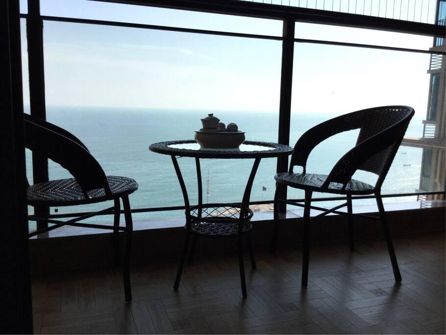 观海阳台实拍