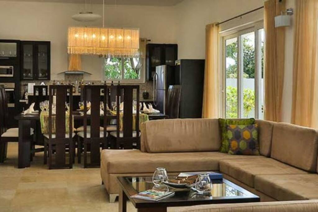 Enjoy your exquisitely appointed living and dining room!