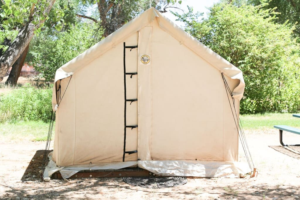 Our tents can be sealed up tight for ultimate privacy