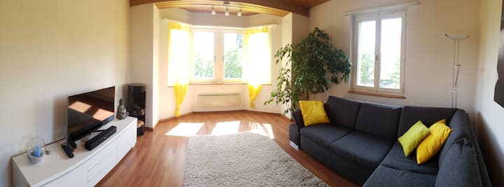 Bright cozy and friendly apartment close to Zurich