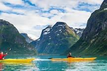 Padling i fjorden