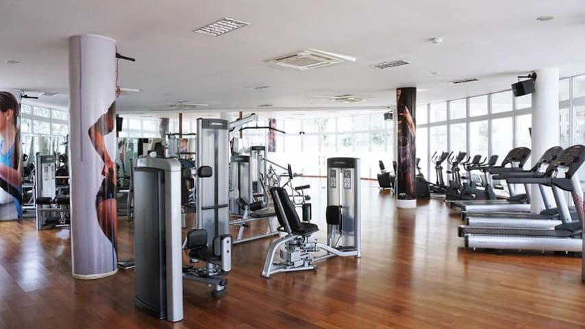 Fitness Center with spacious area and complete equipment