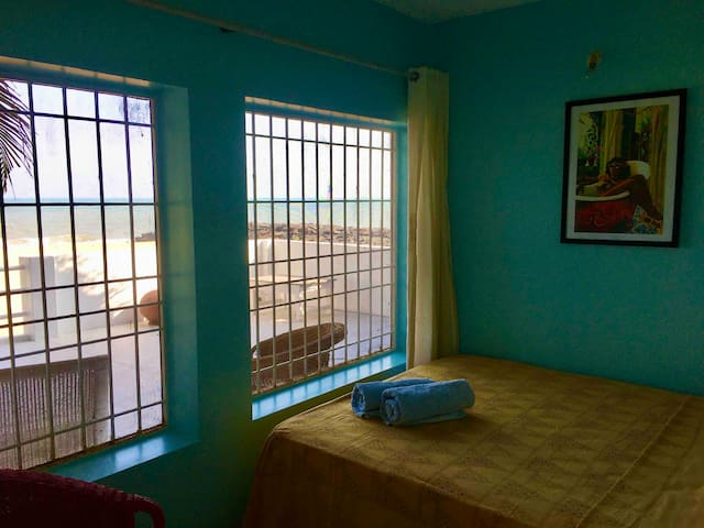Third bedroom with sea view on the terrace