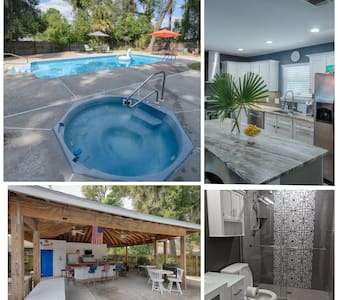 Private Oasis with Pool Between Downtown & Beach