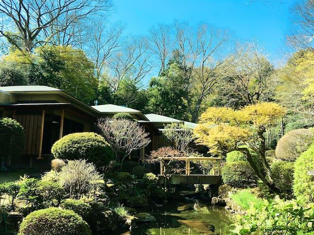 熱海隠れ里、和室、日本庭園、梅薗近隣、専用駐車場最大5台、WIFI、大浴場