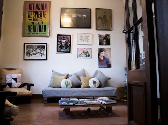 Comfortable room in bright and big flat in La Boca