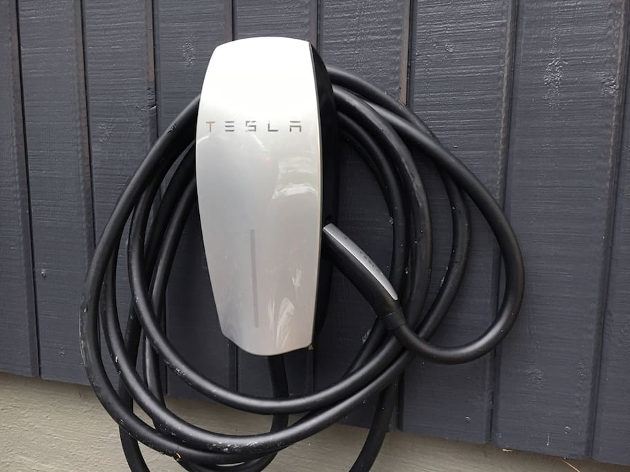 Our home now comes with a Tesla charger & a regular EV plug for all types of electric cars in the garage.