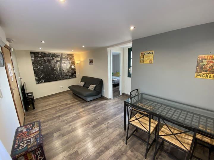 Renovated economic apartment with terrase