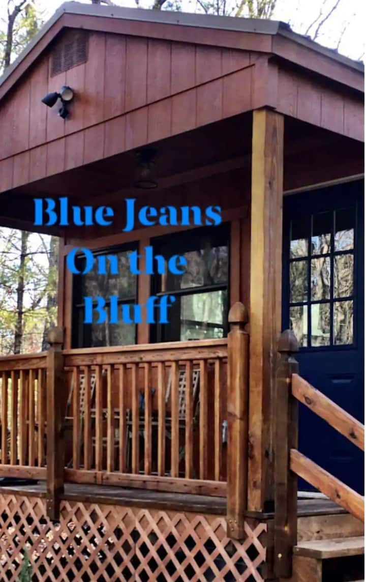 (D'S) Blue Jeans on the Bluff Tiny Cabin