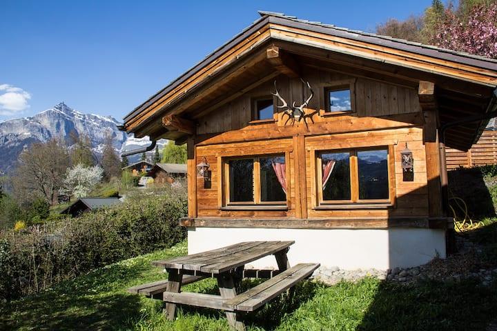 Chalet cosy proche Tramway du Mont-Blanc et centre