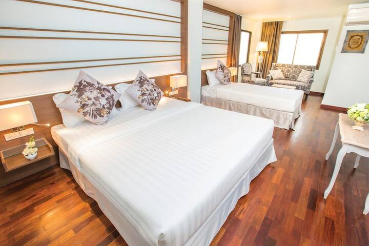 large bedroom for 3 persons