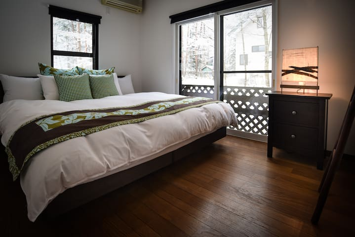 Sheltered Inn Hakuba Double/Twin room - Hakuba - Bed & Breakfast