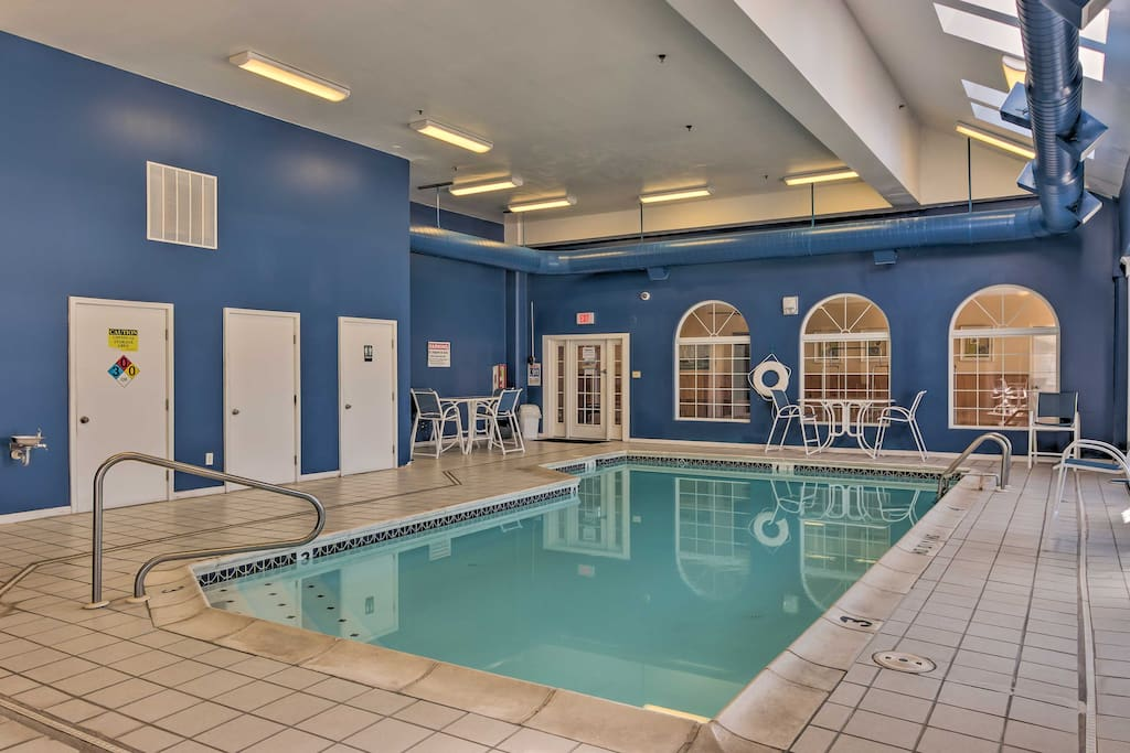 You'll have access to the Marylander Hotel's indoor community pool!