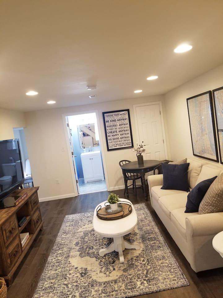 Beautiful bright open basement apartment.