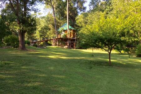 Robbin's Nest Treehouse, live in the trees! - Wilmington - Puumaja