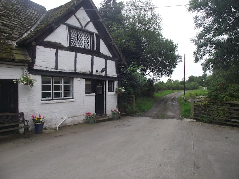 Front of Fernhall cottage