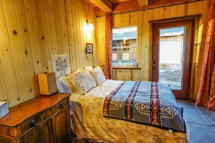 Downstairs bedroom with a full bed. Beautiful views all around.