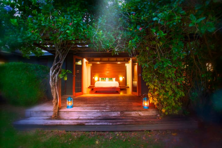 The intimacy of our bungalows offers a quiet and inspiring place of reflection.
