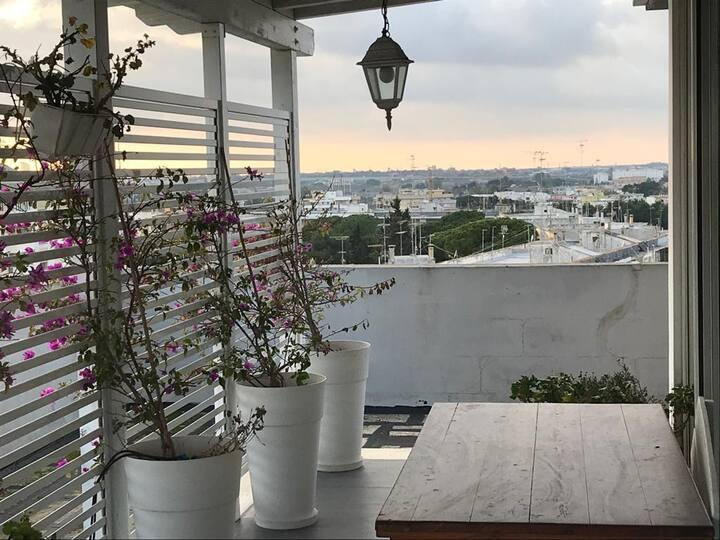 Attico con vista a Lecce WHITE and GREY