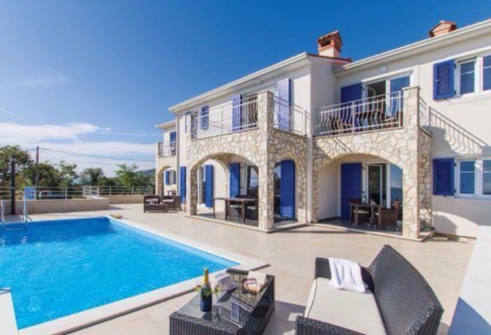 VillaBlu with breathtaking Sea view Swimming Pool.
