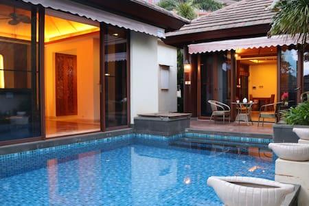 亚龙湾东南亚芭蕉雨林泳池别墅