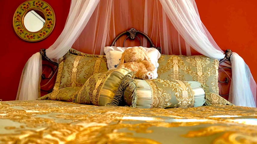 Your big Victorian styled bed awaits.