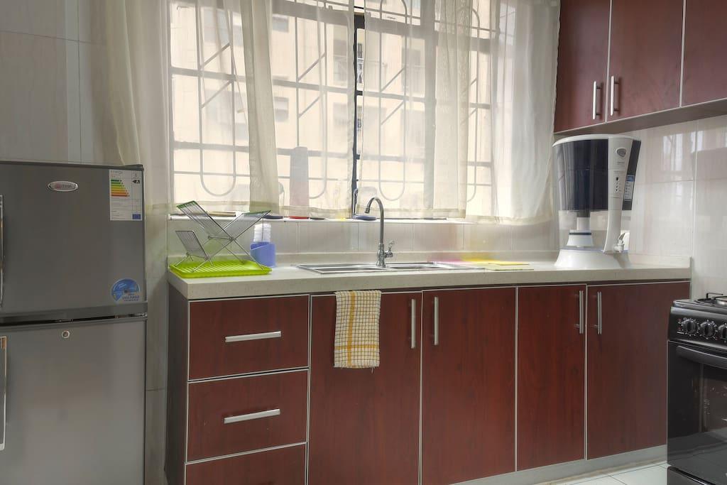 Kitchen showing water filter