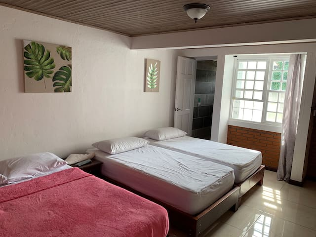 Private room w/bathroom. 10 mins from SJO airport.