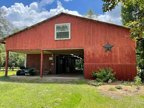 The barn bunkhouse at Dark Horse Farm