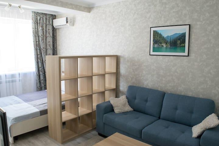 Cozy modern apartment near Al-Farabi avenue & Mega
