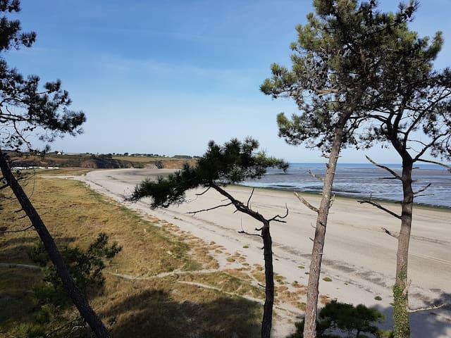 swimming Beach. (bon abri) 300 m on the left of our beach