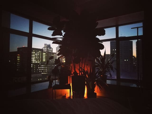 Sunset in bedroom during winter season!its the most beautiful moment of the day!!!